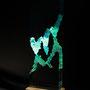 Solid prism/2015/偏光フィルム・アクリル・木材/H42×W13×D6cm