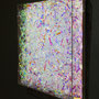 Prismatic layer (magenta) / 2016/ 偏光フィルム・・塩ビ板・アクリルケース / H30×W30×D5cm