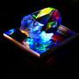 Solid prism/2015/偏光フィルム・アクリル・木材/H5×W5×D5cm