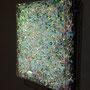Prismatic layer (green) / 2016/ 偏光フィルム・・塩ビ板・アクリルケース / H30×W30×D5cm