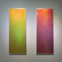 Prismatic crevasse / 2012 / 偏光フィルム・アクリル板・アルミ / H80×W30cm