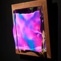 Liquid prism / 2017/ 偏光フィルム・アクリル・木材 / H18×W18×D5cm