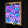 Liquid prism / 2016/ 偏光フィルム・アクリル・木材 / H23×W23×D4cm
