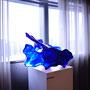 Liqiud blue/2016/ポリエステル樹脂/H50×W70×D60m photo by babico