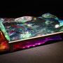 Liquid prism/2015/偏光フィルム・アクリル・木材/H10×W30×D20cm