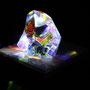 Liquid prism/2015/偏光フィルム・アクリル・木材/H12×W12×D7cm