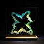 Solid prism/2015/偏光フィルム・アクリル・木材/H30×W30×D6cm