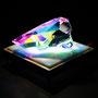 Liquid prism/2016/偏光フィルム・アクリル・木材/H6×W10×D6cm