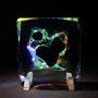 Liquid prism/2016/偏光フィルム・アクリル・木材/H20×W20×D5cm