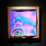 Liquid prism / 2017/ 偏光フィルム・アクリル・木材 / H23×W23×D5cm