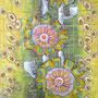 Radblumen, 100x50 cm