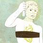 """Editorial Illustration """"Ich bin keine Amöbe"""", LUKS-Magazin 2014"""