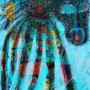 Un chien mouche - encre de chine sur carton - 50x70 cm - 2009