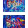 Dyptichon - Les chiens dans la mer - dessin - je 21x14 cm - 2008