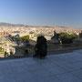 バルセロナの街を一望できる、美術館?の前庭。都会の旅は、ある種の倦怠感がつきまとう。こんなに大きなザックのせいだろうか…。<バルセロナ――スペイン>