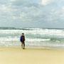 日本海は美しいグリーンの海と、鳴き砂の浜。何もないような風景が、逆に心をときめかせる。               琴ヶ浜 島根