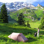 朝の光は本当にうれしいものだ。素晴らしい一日を約束してくれるような、清々しいひと時。<エンゲルバーグ周辺――スイス>
