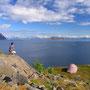 海を見渡す丘は、最高の野宿地だったと言ってもいい。Svolvaerという港町の外れ。カメラの調子が悪くなり、日本から送ってくるのを待つために、延べ八日間をここで過ごした。<Lofoten-NORWEY>