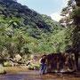 ジャングルの中に、真四角の大きな石が二つ。自然物? 人工物? 日本最後の秘境は、謎とロマンに満ち溢れているのだ! 西表島縦走路 沖縄