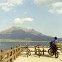 桜島は、ゆったりと聳えていた。大きな自然の風景を見ると、自分の心も大きくなる気がした。人間はちっぽけで無力な存在だ、なんて悲観的な考えなど、この景色の中で生まれるはずもなく。 鹿児島市から桜島を望む 鹿児島