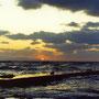 冷たい海と冷たい風。不安をあおるような夕暮れの海。僕の好きな光景…。 仏ヶ浦 青森