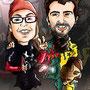 Caricaturas personalizadas online de fotografías: caricatura de pareja 40€ a todo color