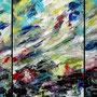 ohne Titel • 2014 • Acryl auf Leinwand • 80 x 180