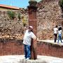 Didier sous le pilori de Silves, le dernier de l'Algarve