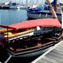 une vraie caravelle de 3,5 mètres sur notre ponton