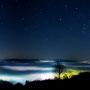 Sternschnuppe über dem Hegau