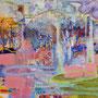 Nach dem Regen (neue Ordnung formiert sich), 2016. <br />Acryl auf Leinwand, 50 x 70 cm