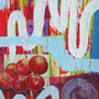 Äpfel, 2016. Mischtechnik auf Papier, 65 x 47,5 cm