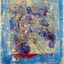 Kleine Götterbotin, 2015. <br />Acryl auf Papier, ca. 33 x 22 cm