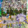 Weiter hinten der Wald, 2016.<br /> Mischtechnik auf Papier, 65 x 44,5 cm