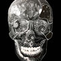 -Title: Nijimi Skull -Size: H509xW394 -Material: pigment ink, Silver Foil on Illustration board