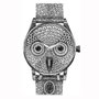 -Title: Owl Watch -Size: H170xW130(oval) -Material: pigment ink on Illustration board
