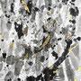 -Title: Carp Streamer -Size: H841xW594 -Material: Pigment ink, Brass foil,Gold foil, Japanese ink on Illustration board