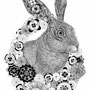 -Title: Rabbit -Size: H515xW364 -Material: pigment ink on Illustration board