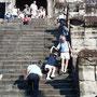 アンコール・ワット中央塔への階段