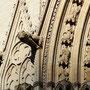 Primatiale Saint-Jean-Baptiste, détail de la façade avec lion