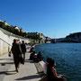 Rive de Saône, promenade aménagée