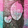 Image transfer from a laser printed photo, using essential oils, on watercolour background