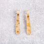 Ohrhänger 925/- Silber, Kristallachat, Brillant natur-braun 0,06 ct