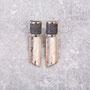 Ohrhänger 925/- Silber, Hämatit, Carbon