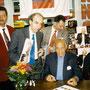 Betin Güneş trifft Sir George Solti im Oktober 1996