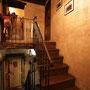 Cà du Russu, Treppe zum Zimmer