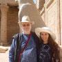 Ägypten im März 2017, mit meiner Frau Daniela Rutica im Horus-Tempel von Edfu
