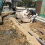 土間下設備配管工事状況