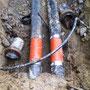 Aareleitung Durchmesser 400 mm repariert.