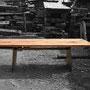 Der wunderschöne Altholz-Tisch BARBAROSSA - auch mit Kufengestell möglich